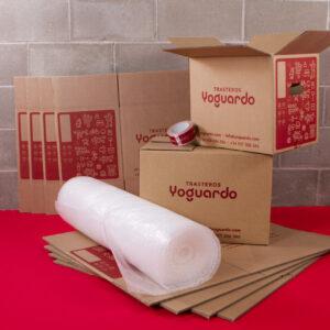 material de embalaje en todos los Trasteros YoGuardo® - Cajas, film protector y relleno de protección